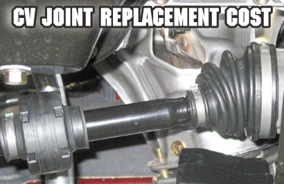 cv joint replacement cost