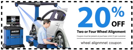 wheel alignment saving coupon