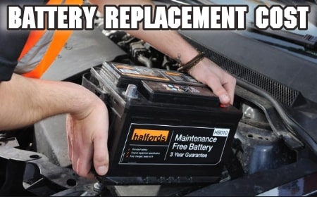 car battery replacement cost