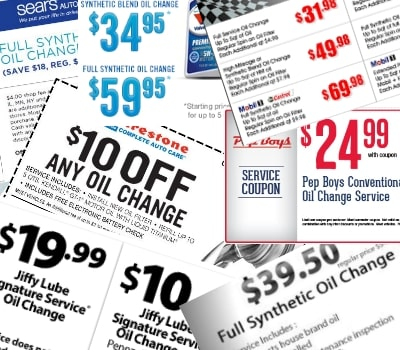 get cheap oil change coupons